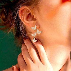 🌵4/$30 New Crystal Butterfly Earrings